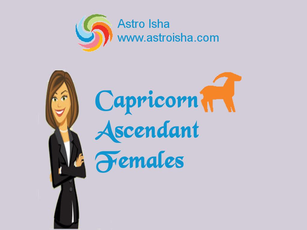 Capricorn Ascendant Females