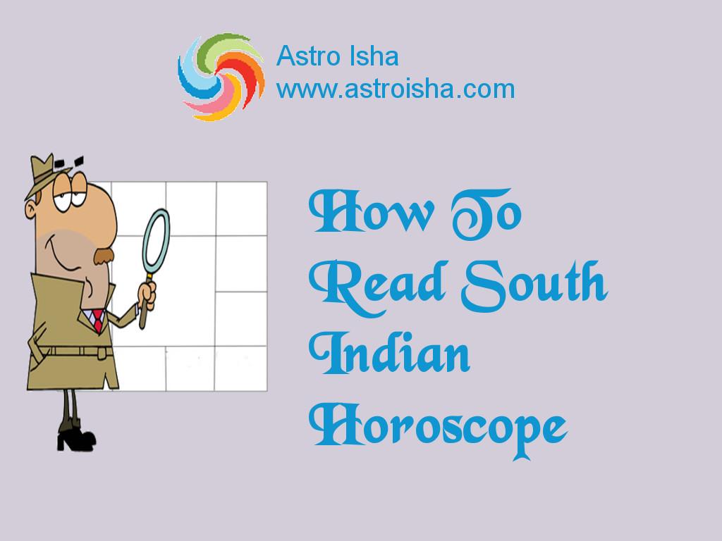 Astro Isha How To Read South Indian Horoscope
