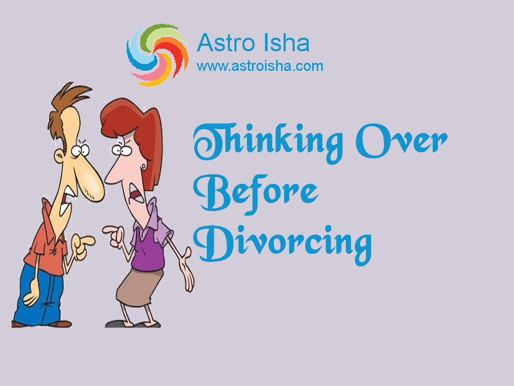 Thinking Over Before Divorcing